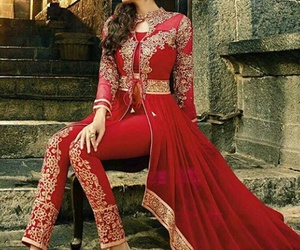 india, love, and red indian dress image