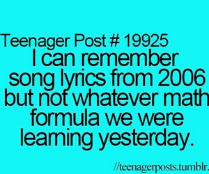 teenager post, funny, and Lyrics image