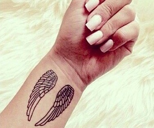 tattoo, wings, and nails image