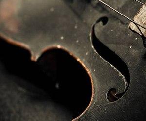 violin, music, and black image