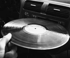 music, vintage, and black and white image