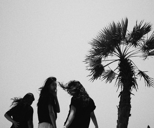 beach, best friend, and black and white image