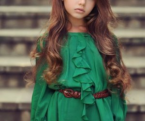 girl, hair, and green image