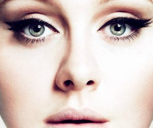 Adele, eyes, and Harry Styles image