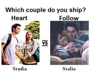 stydia, stalia, and teen wolf image