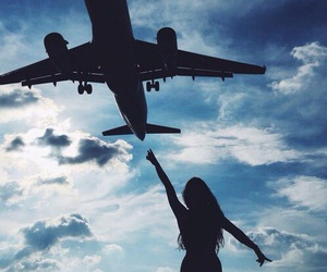 girl, sky, and travel image