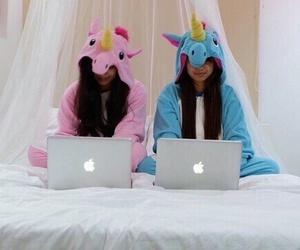 unicorn and girls image