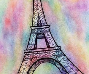 eiffel tower and love image