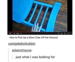 funny, lol, and chair image