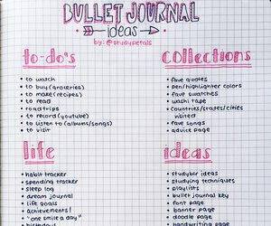 ideas, bullet journal, and school image