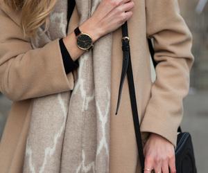fashion, beige, and coat image