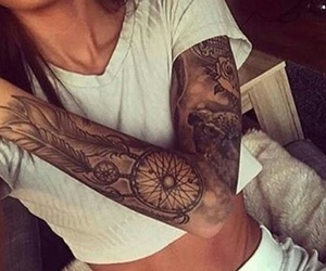 girl tattoo arm image
