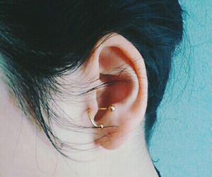 gold, grunge, and Piercings image