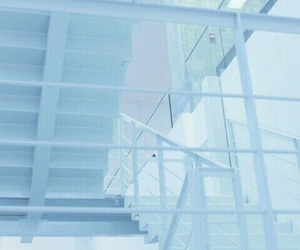 blue, aesthetic, and stairs image