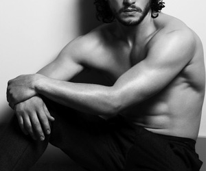 black and white, Hot, and shirtless image