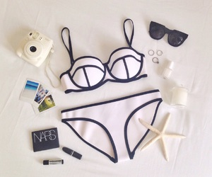 bikini, fashion, and beach image