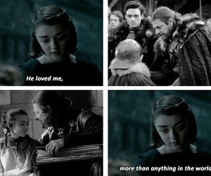 arya stark, game of thrones, and ned stark image