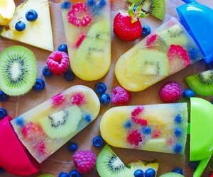 berries, FRUiTS, and ice cream image