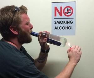 alcohol, funny, and smoking image