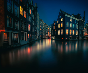 amsterdam, wanderlust, and lights image