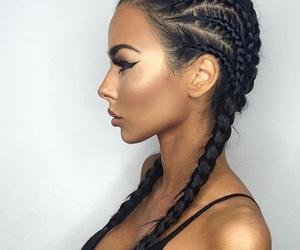 hair, braid, and makeup image