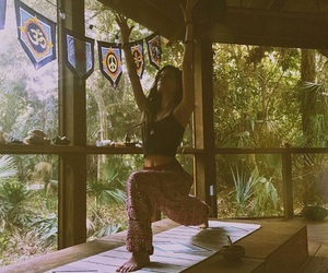 hippie, nature, and peace image