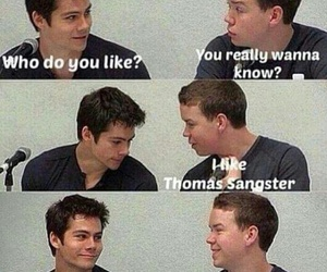 lol, thomas brodie sangster, and dylan o'brien image