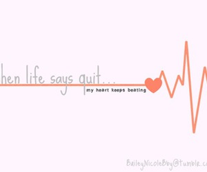 heart, heartbeat, and life image