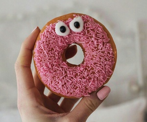 donut, donuts, and eyes image