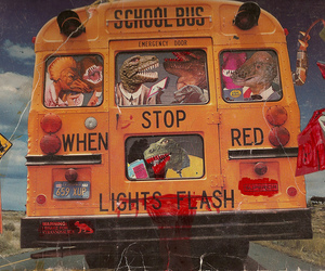 bus, school bus, and crazy image