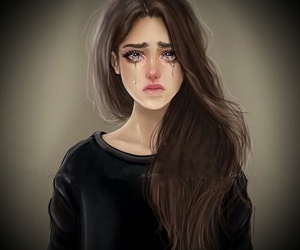 girly_m, sad, and art image