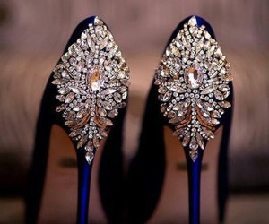shoes, luxury, and diamond image