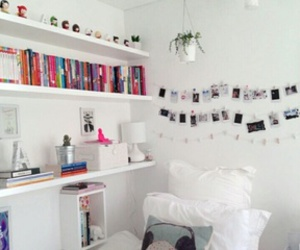 awesome, bed, and books image