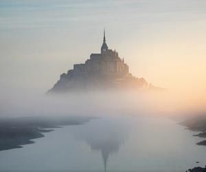 castle, fog, and france image