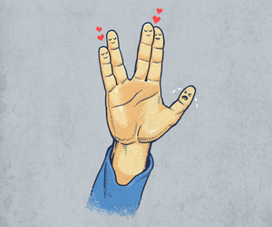 finger, happy, and heart image