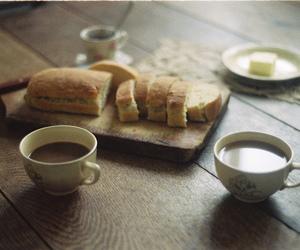 bread, food, and tea image