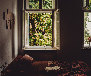 bed, journal, and tree image
