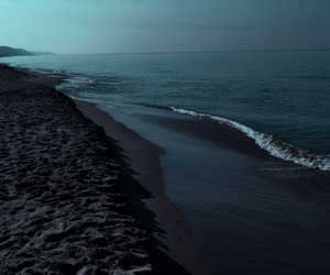 black, peaceful, and ocean image