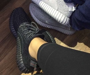 yeezy, shoes, and black image