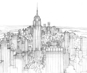 cities, doodle, and drawing image