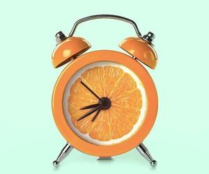 orange, art, and clock image