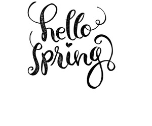 hello and spring image