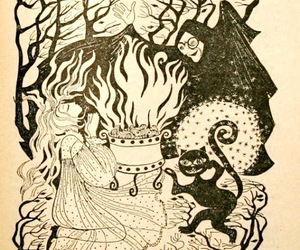 cat, fire, and illustration image