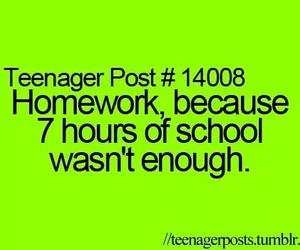 teenager post, school, and homework image