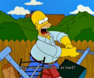 life, homer, and hard image