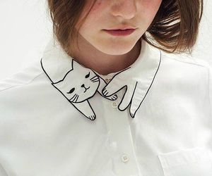 cat, fashion, and white image