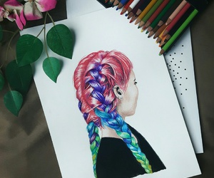 aesthetic, colorfull, and teenager image