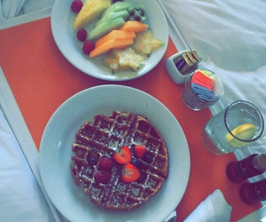 bed, brunch, and FRUiTS image