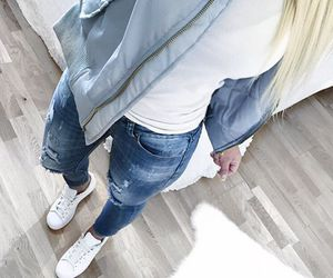 blonde, woman, and clothes image