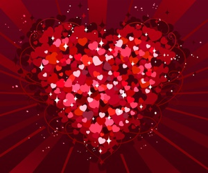 heart, hearts, and valentine image
